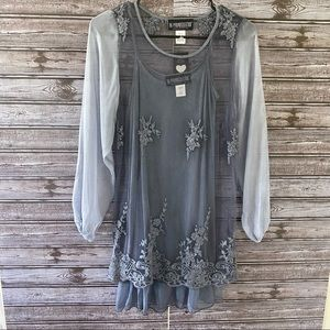 NWT The Pyramid Collection Layered Top Size XS